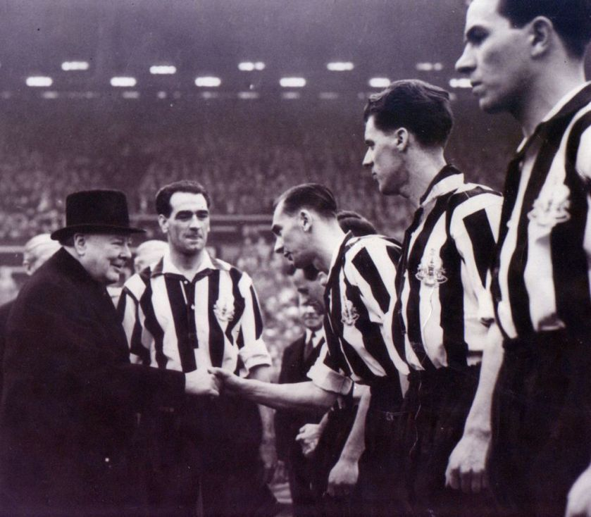 Newcastle United, 1932 home kit, Winston Churchill, Newcastle FA Cup