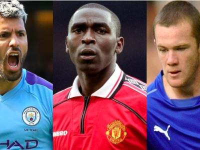 Wayne Rooney, Alan Shearer, Andy Cole, Sergio Aguero, Thierry Henry, Premier League, Total goals, average goals
